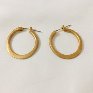 Mini Gold Toned Hoop Earrings